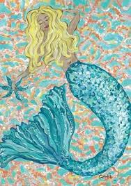 Mermaid Garden Decor Mermaidhomedecor Mermaid Fantasy Garden Flag 17 88 Mermaid