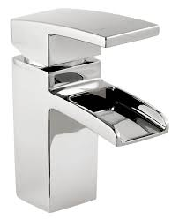 kitchen sink mixer taps b q cooke lewis cascade 1 lever basin mixer tap departments diy at