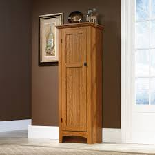 Oak Kitchen Pantry Storage Cabinet Sauder Select Pantry 401867 Sauder