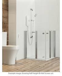 Half Shower Doors Larenco Corner Half Height Shower Enclosure Plain Doors