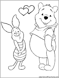 disney valentine coloring pages free printable colouring pages