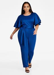 royal blue jumpsuit buy flutter sleeve jumpsuit royal blue shop by style