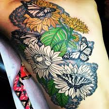 butterfly and sunflower design creativefan