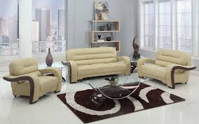 Genuine Leather Living Room Sets Alpha Beige Genuine Leather Sofa