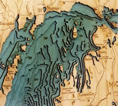 great lakes 3 d nautical wood chart large 24 5 x 31 woodchart