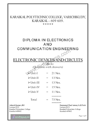 electronic devices and circuits edc tamilnadu polytechnics one