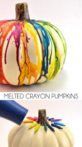 melted crayon pumpkin craft melted crayons crayons and rainbows