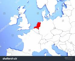 Map Netherlands Map Netherlands Highlighted Red On Simple Stock Illustration