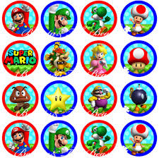 ninjago cake toppers aliexpress buy mario bros stickers cupcake toppers