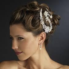 hair styles with rhinestones freshwater pearl rhinestone bridal headpiece clips elegant