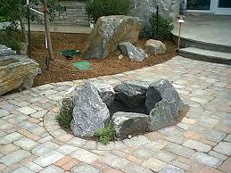 Rock Firepits Rock Pits Designs Garden Design