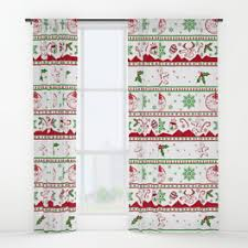 Santa Curtains Snowman Window Curtains Society6