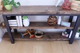 Pottery Barn Inspired Furniture Remodelaholic Pottery Barn Inspired Modern Rustic Console Table