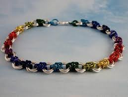 beginner earrings anklet kit linked loops iii chainmail silver rainbow