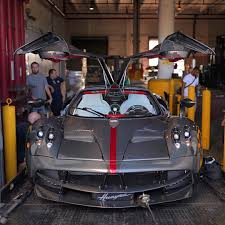 pagani huayra carbon fiber pagani huayra grey carbon cf red stripe red interior us spec
