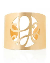 monogrammed cuff bracelet personalized jewelry gifts at neiman