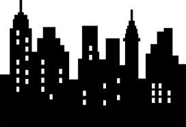 free superhero background clipart city scape clipartfest wallmonkeys abstract city silhouette black on white isolated peel and stick wall decals in w x 18 in h