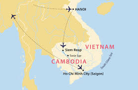 Saigon On World Map by Highlights Of Vietnam And Cambodia Vietnam Jules Verne