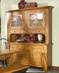 intercon solid oak buffet and hutch rustic traditions inrt603548