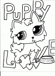 littlest pet shop coloring pages dog coloring home