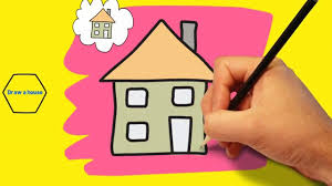 drawing a house greatest easy drawing for preschoolers how to draw a house kids