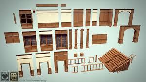 Victorian Interior Design by Artstation Modular Victorian Interior Rockheart Studios