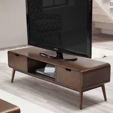 Tv Tables Wood Modern Belham Living Carter Mid Century Modern Tv Stand While The