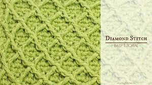 how to crochet the diamond stitch easy tutorial by hopeful