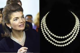lady with pearl necklace images Camrose kross jackie bouvier kennedy triple strand pearl jpg