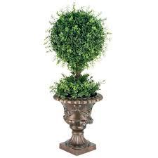 Ny Topiary - national tree company 36 in mini tea leaf 1 ball topiary in black