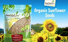 amazon com food to live organic sunflower seeds raw no shell
