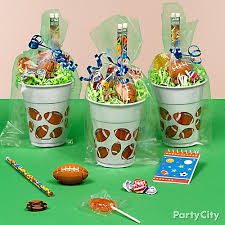 football favors desserts serving banners custom invitations football party favors