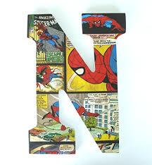 Comic Book Room Decor Amazon Com Spiderman Wood Nursery Letters Marvel Comic Book