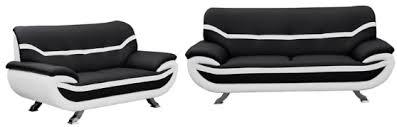 3 Seater Cream Leather Sofa And 3 Seater Faux Leather Sofa Set