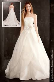 white by vera wang fall 2013 organza tube top bridal dress