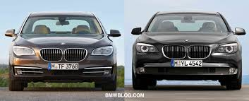 bmw 7 series 2012 photo comparison bmw 7 series facelift vs pre facelift 7 series