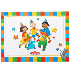 caillou party supplies the official pbs kids shop caillou placemat 4 count