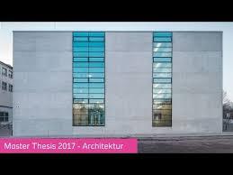 master architektur master studiengang architektur thesis 2017