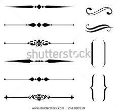 rule line ornament set set rule stock vector 241360519