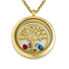 floating locket necklace images Family tree floating locket with gold plating mynamenecklace jpg