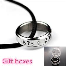 ring pop boxes kpop bts bangtan boys debutdate with women men titanium steel ring