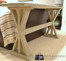 Diy Console Table Plans Diy Entryway Table Sofa Table 100 Things 2 Do