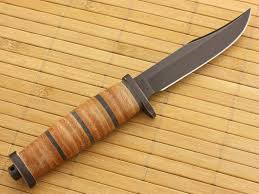 buck small brahma 117brs fixed knife leather handle for sale