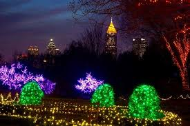 Botanical Garden Atlanta Lights Downtown Atlanta Surrounded By Christmas Lights Picture Of