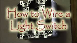 double light switch wiring how to wire a double gang box light swtich youtube