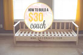 Make A Sofa by Osie Moats Diy Lifestyle Decorating Blog How To Build A 30