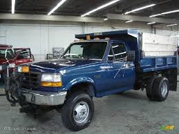 truck ford blue 1995 medium lapis blue metallic ford f350 xl regular cab 4x4