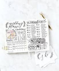 wedding planning journal bullet journal spreads to inspire your wedding planning weddingbells