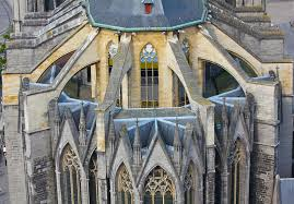 flying buttress flying buttresses on church in ghent belgium stock image image
