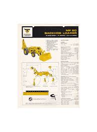 massey ferguson mf 50h hx backhoe loader specification sheet